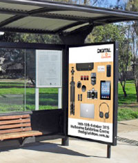 Bus Shelter advertising mock-up for The Digital Show.