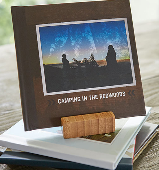Shutterfly's TripPix photo books takes five minutes to put together and cost $20, complete with shipping and bamboo display stand.