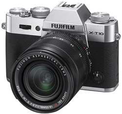 The latest-release Fujifilm X-T10. The specialty channel conyributes 85 percent of Fujifilm's sales of X-series cameras.  Who said the channel is irrelevant!