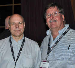 Ron Mohney (IPI executive director) with your correspondent, Alan Logue.