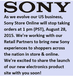The Sony US announcement hints at a new website channeling conumers towards supporting retailers.