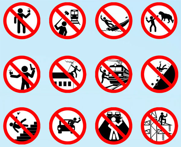 The range of activities the Russian Government doesn't want its citizens to be involved in while armed with a selfie stick.