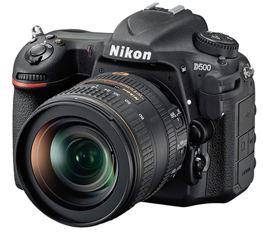 The crop-sensor D500 shares advanced features with its full-frame sibling. Body-only pricing of around $3000 puts it up there among the most expensive APS-C cameras.