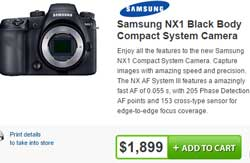 Dead man walking: The Samsung NX1 is still available on the Camera House website, 'No Longer Available' on the DCW website.