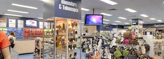 Gerry Gibbs Camera House is large for a camera store at around 275 square metres, in addition to off street parking.