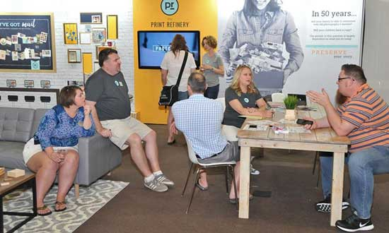 The Print Refinery pop-up store was a star of the IPIC trade show, with close to 40 'prospects' among retailers attending.