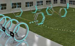 The DJI Arena will have drones jumping through hoops.