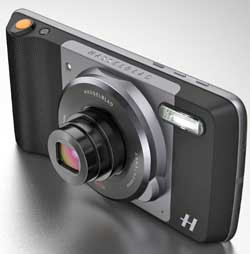 Hasselblad's True Zoom advanced camera module married to a Motorola smartphone.