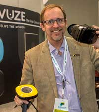 Jim Malcolm, VUZE. (We interviewed Jim as executive director, The Imaging Alliance, back in August.