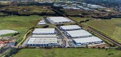 The partially developed Oakdale Industrial Estate near Eastern Creekwill house a massive DHL facility and is in contention for Amazon's Australian warehouse.
