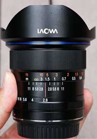 The full-frame Laowa 11mm f2.8 Zero-D (designating zero distortion!) is under US$1000 - around a third of the cost of the nearest Nikon and Canon alternatives.