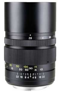 The Mitakon Creator 135mm f2.8 - metal costruction and a built-in retractable lens hood for around US$200.