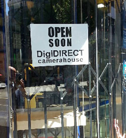 DigiDirect Camera House is scheduled to open in the former Camera Action premises in the next few days.