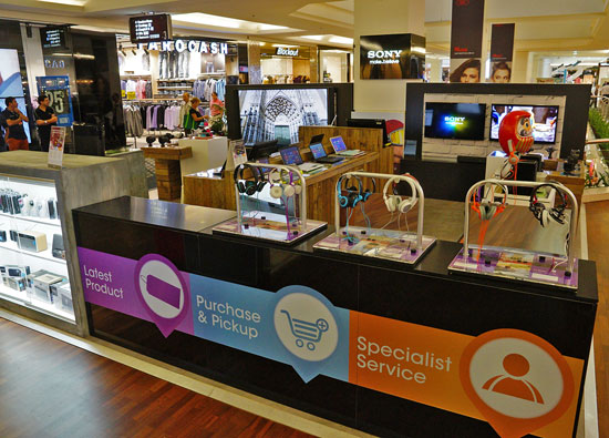 The Sony kiosk at Westfield Parramatta opened last Saturday, April 13.