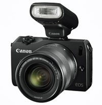 The Canon EOS M twin lens + 90EX Speedlite kit is just $799 from the Canon online store with 'Family and Friends' discount.