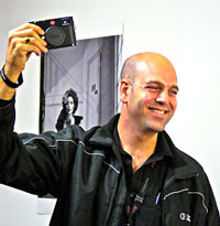 Camera Electronics Saul Frank at the launch of the Leica M in Perth last Friday.