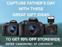 Canon is currently offering a 10 percent discount on already discounted cameras on its online store.