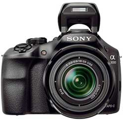 The Sony a3000 - a mirrorless interchangeable model with DSLR styling.