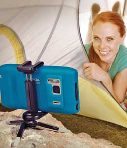 The Joby GripTight Micro Stand is ideal for selfies - bunny ears optional!