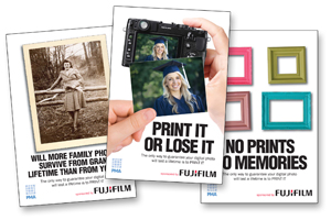 The UK 'Print It Or Lose It' campaign takes a more conservative approach. Local PMA members will have access to both.