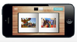 A Mosaic photo book on smartphone screen.