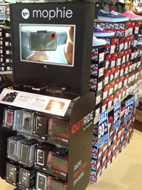Camera cases in a sports shoe shop? Really!? Someone's dropped the ball.