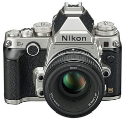 The just-announced Nikon Df is a reasonably-priced full frame camera which in design harkens back to the golden age of Nikon film SLRs.