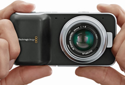 At just over $1000, the Blackmagic Design Pocket Cinema Camera smashes the barrier to entry to the world of cinema quality videography. It accepts Micro Four Thirds lenses from Olympus, Panasonic, etc.