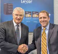 John Swainston, managing director,  Maxwell International Australia, and Richard Clarke, national sales manager, Lexar products, ANZ.