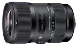 The Sigma f1.8 18 - 35mm is the only lens to offer an f1.8 aperture across the zoom range.