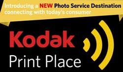 Kodak Alaris hopes the new Kodak Print Place logo will be seen in reatil outlets beyond traditional photo stores and mass merchants.