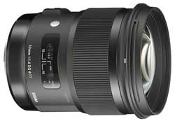 The Sigma f1.4 50mm Art series lens: 'one of the best in the market today'.