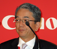 Canon Australia managing director, Taz Nakamasu.