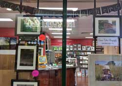 The Photographer of the Month display. Images are offered to the public for sale.