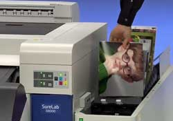 The Epson Surelab inkjet minilab is another part of the Photo Direct equipment range.