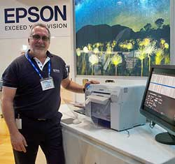 The Epson D700 attracted good interest on debut at the show, demonstrated by Derek Mobbs.