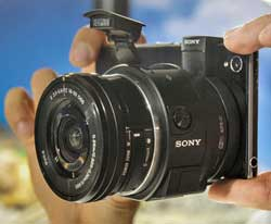 Innovation:  The QX1 is a 'body only' 20-megapixel APS-C size Exmor sensor and Bionz X processor with  advanced camera features which accepts Sony E-mount and A-mount lenses.