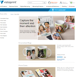 Vistaprint already offers photo gifting products direct to the public. The new TradeAdvantage service invites printers to participate 'at