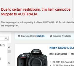 Nikon blocks US retailers from shipping  its cameras to Australia. ShopMate is a convenient workaround to that restriction.