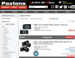 Paxtons' product comparator helps customers research their purchase.
