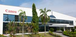 Canon manufactures EF lenses and pentaprism units at its Malaysian factory.