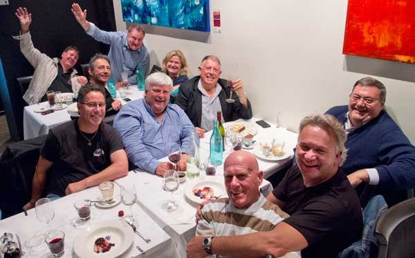 A photo industry dinner in Hobart prior to the funeral.