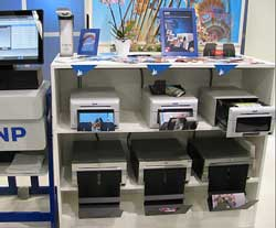 The DNP printers are arranged in a group. (Pic: Photo Direct)