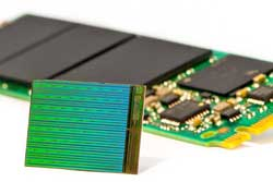 The new 3D NAND FLash die by IM Flash, a joint venture between Intel and Micron.