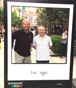 Stuart Holmes and Bruno Polito, IPS, at the Polaroid Fotobar on the IPIC 'Instawalk'.