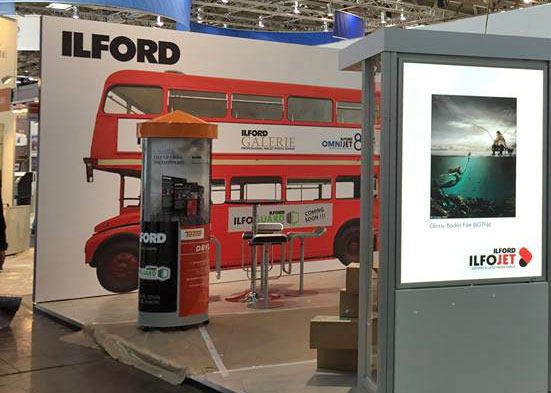 Ilford Ilfojet media made its debut at the FESPA 2015 wide-format/signage exhibition in Cologne in May.