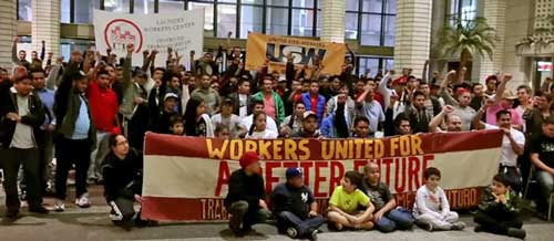B&H workers protest about conditions last October.