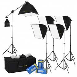 The DayFlo EZ Lite 5-Fixture portable studio light kit from Fotodiox