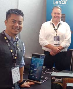 Mathew Luu and Richard Clarke, Lexar.