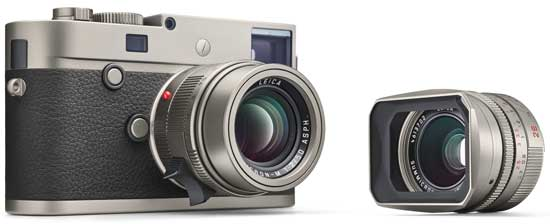 Object of desire: The titanium Leica M-P kit.